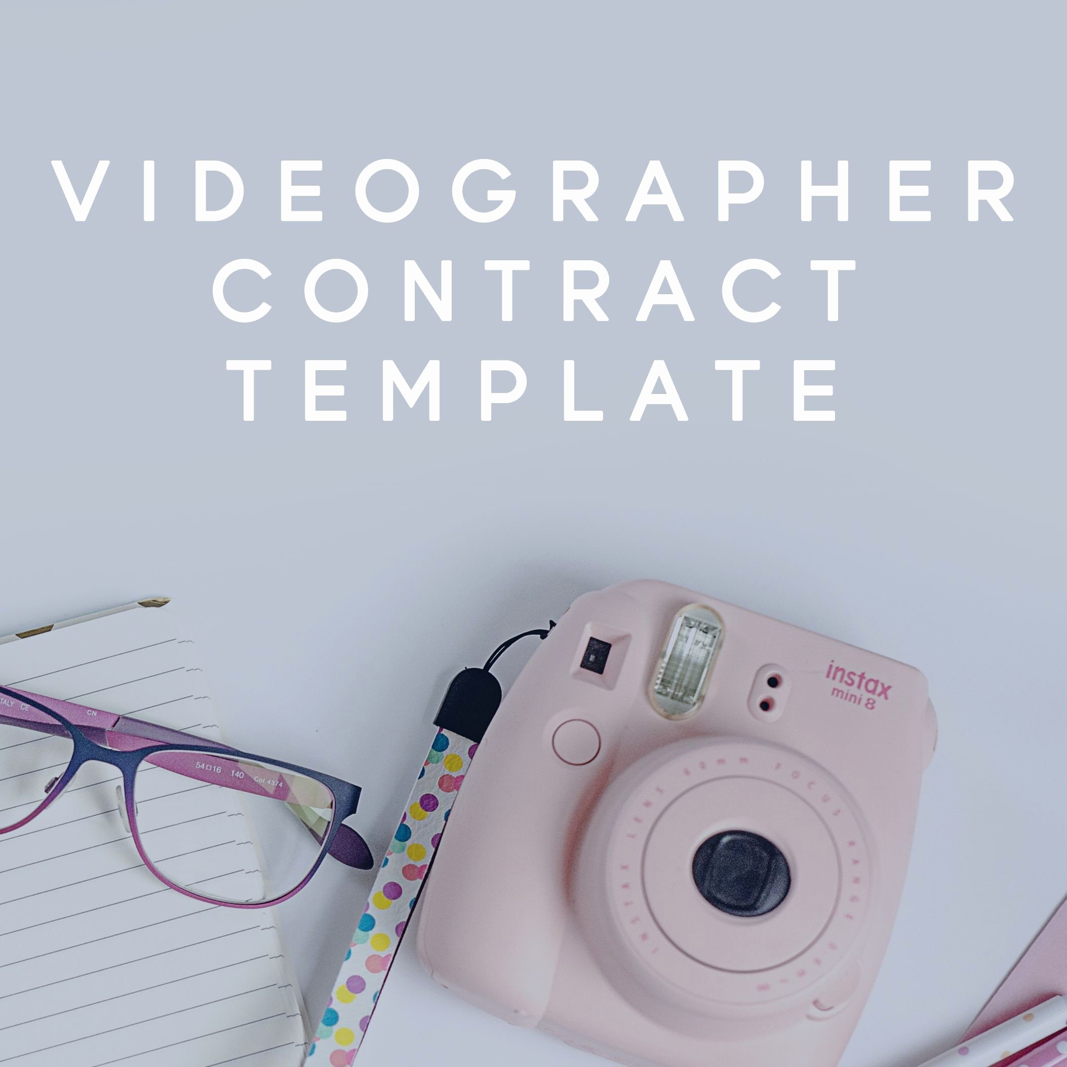 Wedding Videographer Contract Template Inspirational Videography Contract Template for Videographers