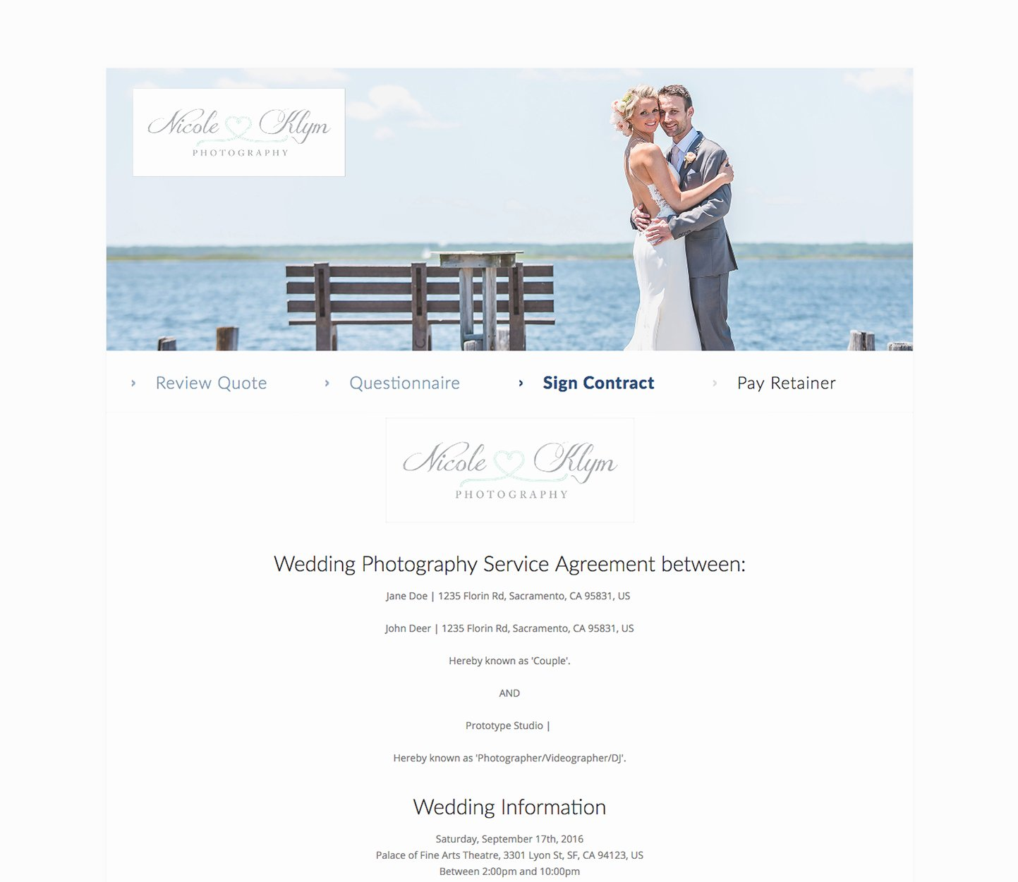 Wedding Videographer Contract Template Lovely Business Management software for Videographers – Táve