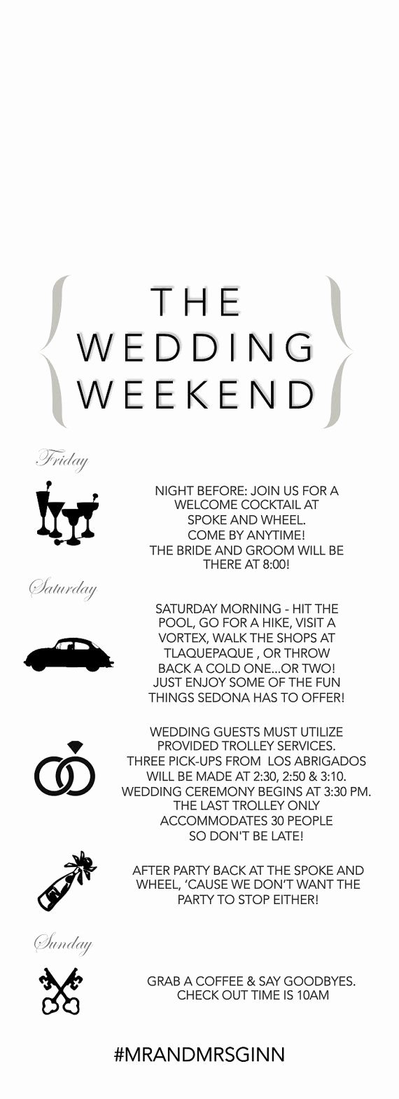 Wedding Weekend Itinerary Template Free Awesome Best 25 Wedding Weekend Itinerary Ideas On Pinterest