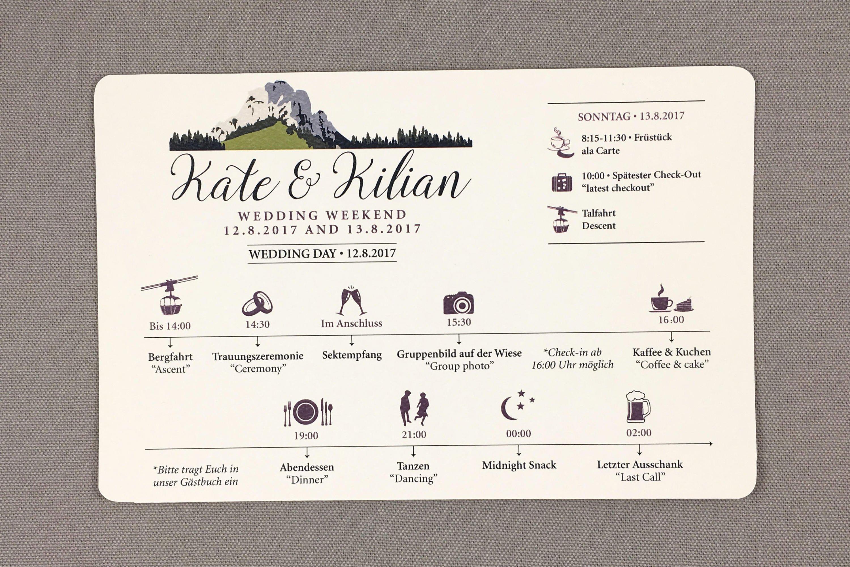 Wedding Weekend Itinerary Template Free Best Of Kampenwand Mountain German Wedding Weekend Timeline Card