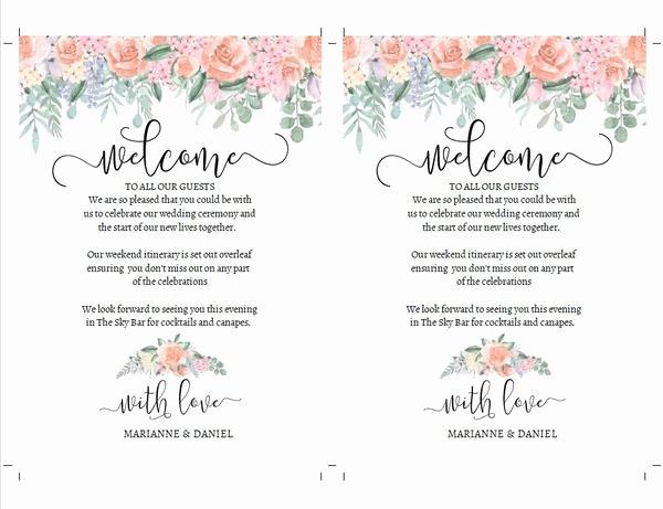 Wedding Weekend Itinerary Template Free Elegant Romantic Vintage Rose Wedding Weekend Timeline Printable