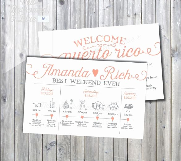 Wedding Weekend Itinerary Template Free New Wedding Itinerary Template 11 Free Word Pdf Documents