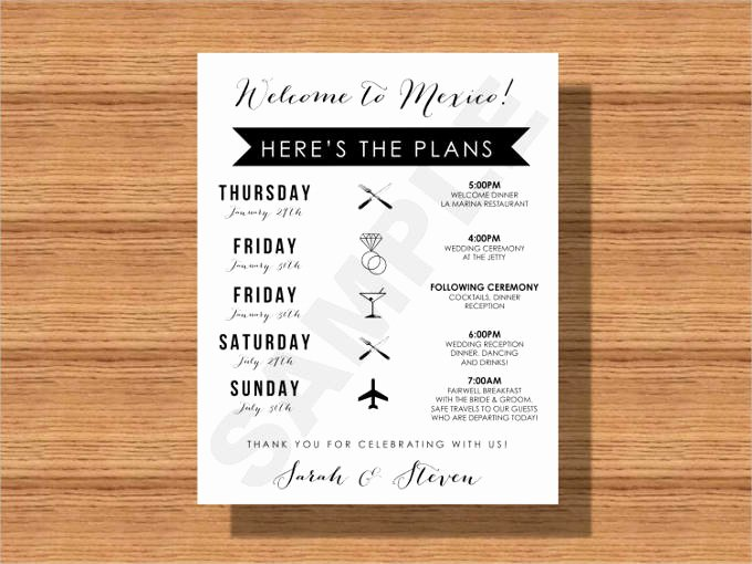 Wedding Weekend Itinerary Template Free Unique 44 Wedding Itinerary Templates Doc Pdf Psd