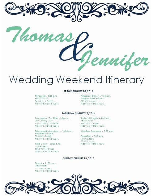 Wedding Weekend Itinerary Template Fresh 17 Best Ideas About Wedding Weekend Itinerary On Pinterest