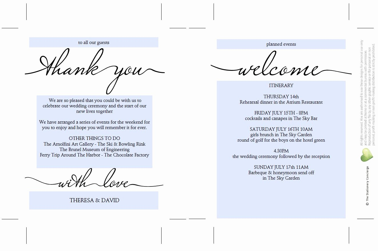 Wedding Weekend Itinerary Template Unique Printable Wedding Itinerary Template Wedding Weekend