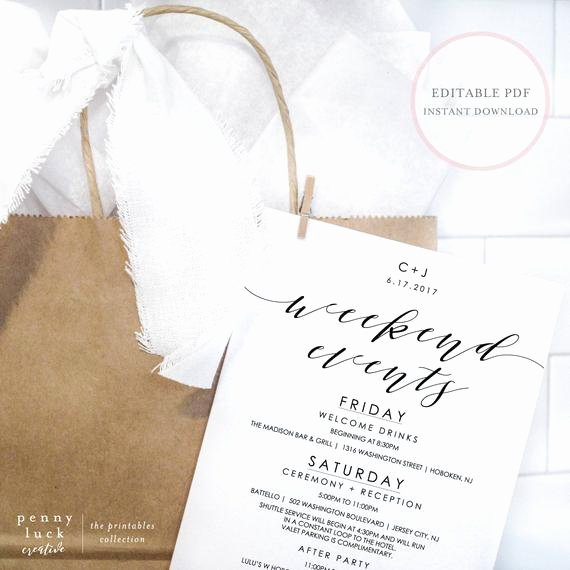 Wedding Weekend Itinerary Template Unique Wedding Weekend Itinerary Wedding Weekend Itinerary Template