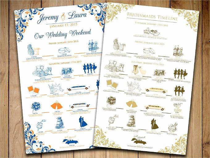 Wedding Weekend Itinerary Templates Elegant 44 Wedding Itinerary Templates Doc Pdf Psd