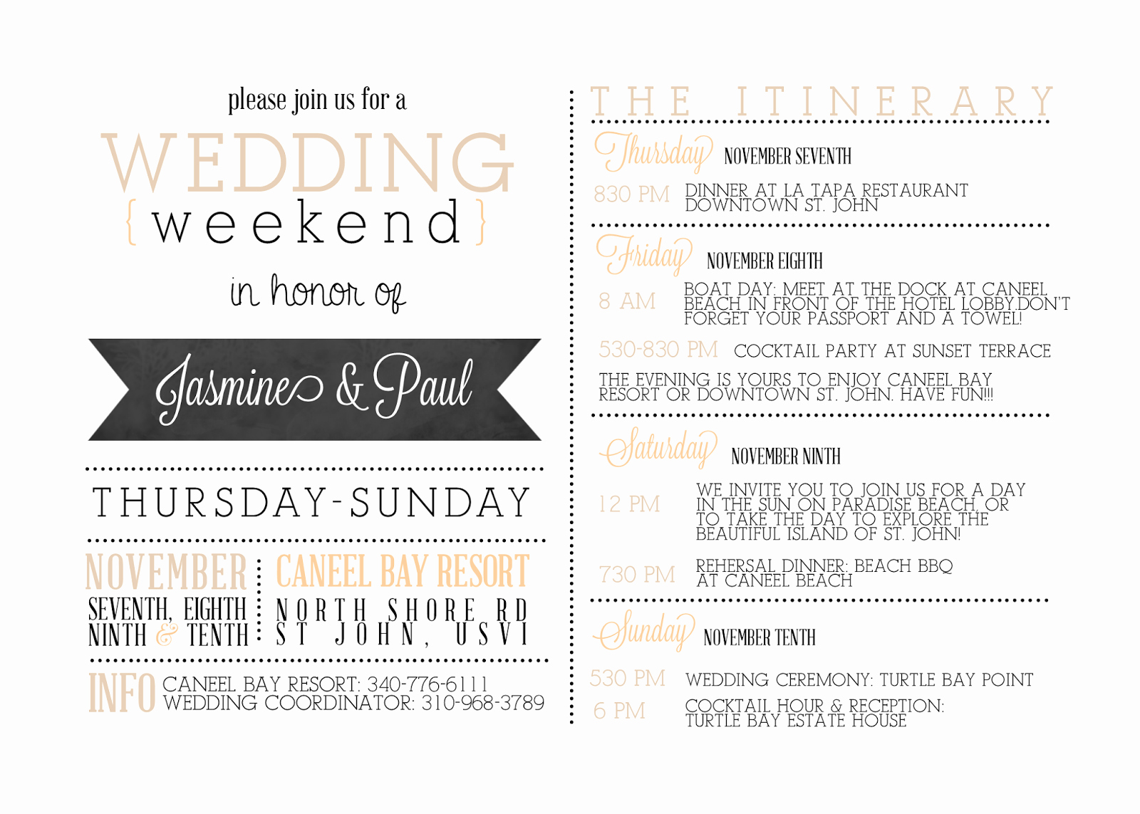 Wedding Weekend Itinerary Templates Fresh Sugar Queens Custom Wedding Wel E Cards