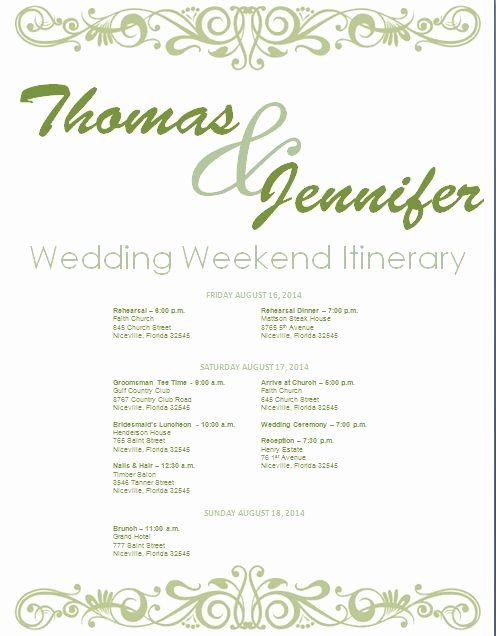 Wedding Weekend Itinerary Templates Lovely Best 25 Wedding Itinerary Template Ideas On Pinterest