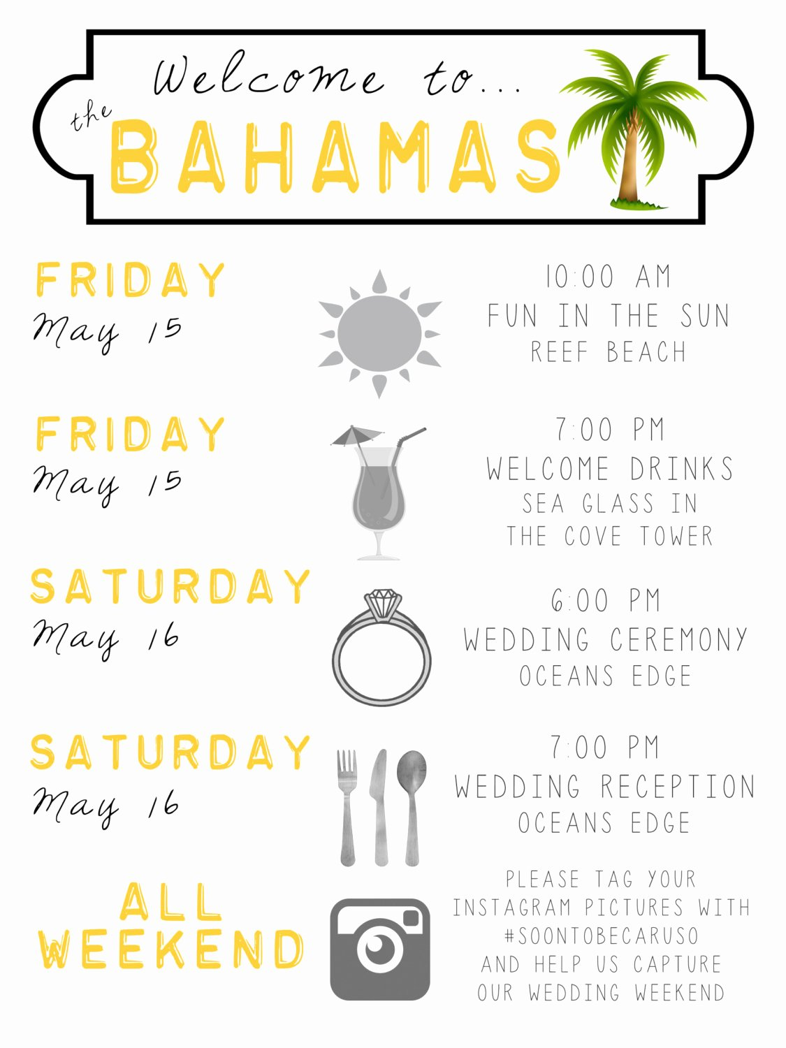 Wedding Weekend Timeline Template Awesome Destination Wedding Wel E Bag Guest Itinerary Timeline Of