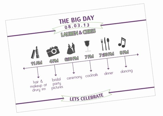 Wedding Weekend Timeline Template Beautiful Items Similar to Custom Wedding Day Timeline On Etsy