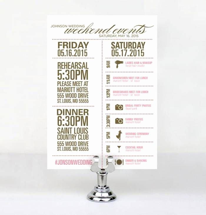 Wedding Weekend Timeline Template Fresh Wedding Reception Timeline Planning Guide