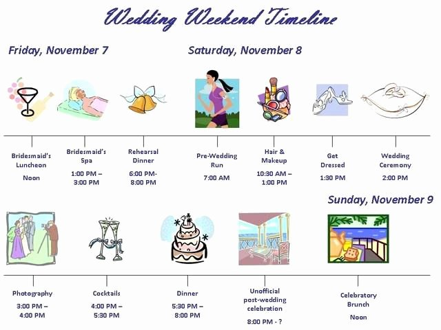 Wedding Weekend Timeline Template New 10 Best Images About Wedding Timeline Ideas On Pinterest