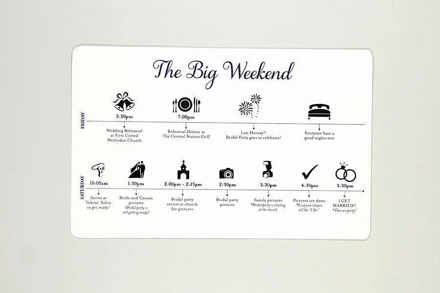 Wedding Weekend Timeline Template New the Big Weekend Wedding Timelines Sets Of 30 – Nesting Project