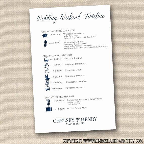 Wedding Weekend Timeline Template Unique Wedding Timeline Cards • Wedding Weekend Timeline