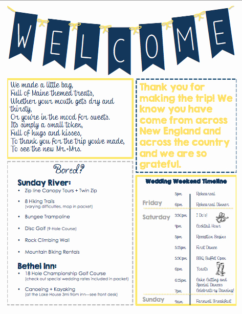 Wedding Welcome Letter Template Awesome Oot Wel E Letter Packet