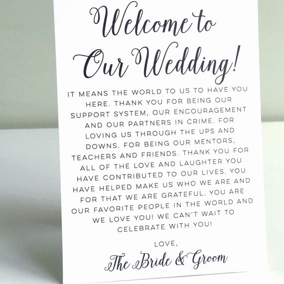 Wedding Welcome Letter Template Best Of Printable Wedding Wel E Letter Instant by