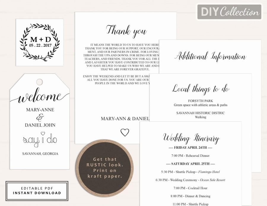 Wedding Welcome Letter Template Elegant Wedding Wel E Letter Template