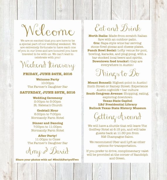 Wedding Welcome Letter Template Elegant Wel E Letter Weekend Itinerary Wedding Itinerary by
