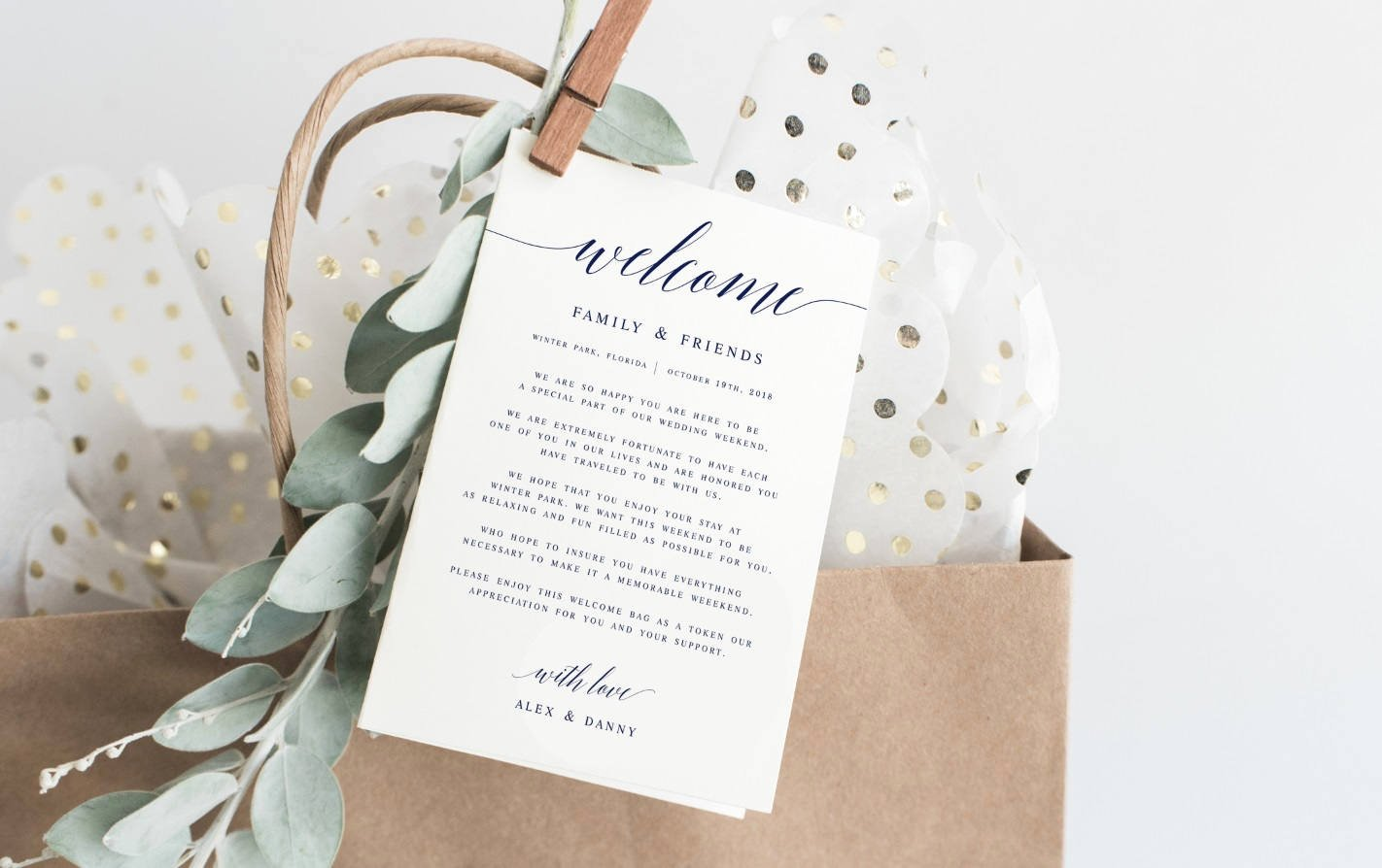 Wedding Welcome Letter Template Fresh Navy Modern Calligraphy Wel E Wedding Letter Template