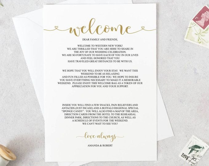 Wedding Welcome Letter Template Luxury Wedding Wel E Letter Template Wedding Itinerary