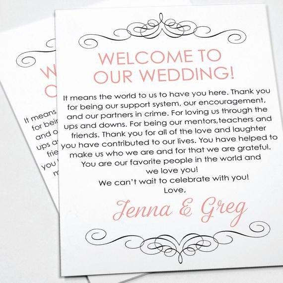 Wedding Welcome Letter Template Unique Wedding Wel E Letter Wedding Itinerary Wedding by