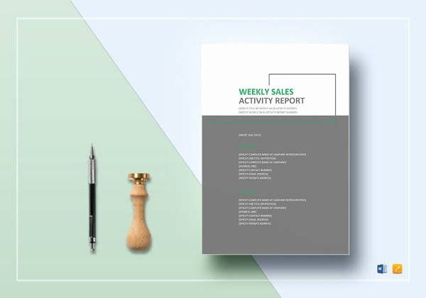 Weekly Activities Report Template Best Of Free 18 Weekly Report Templates In Samples Examples