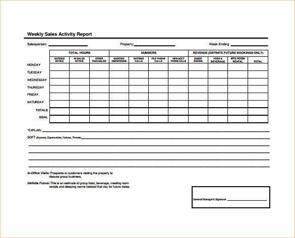 Weekly Activity Report Template Beautiful 19 Sales Activity Report Templates Word Excel Pdf