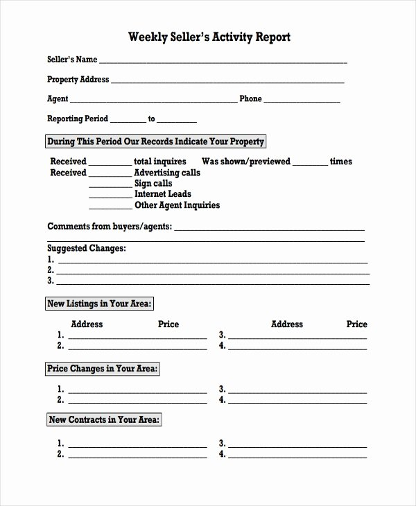 Weekly Activity Report Template Best Of 45 Sample Weekly Report Templates Word Pdf