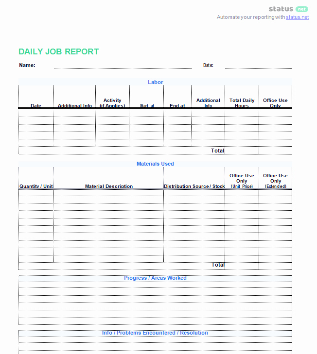 Weekly Activity Report Template Elegant 3 Best Examples Daily Report Template