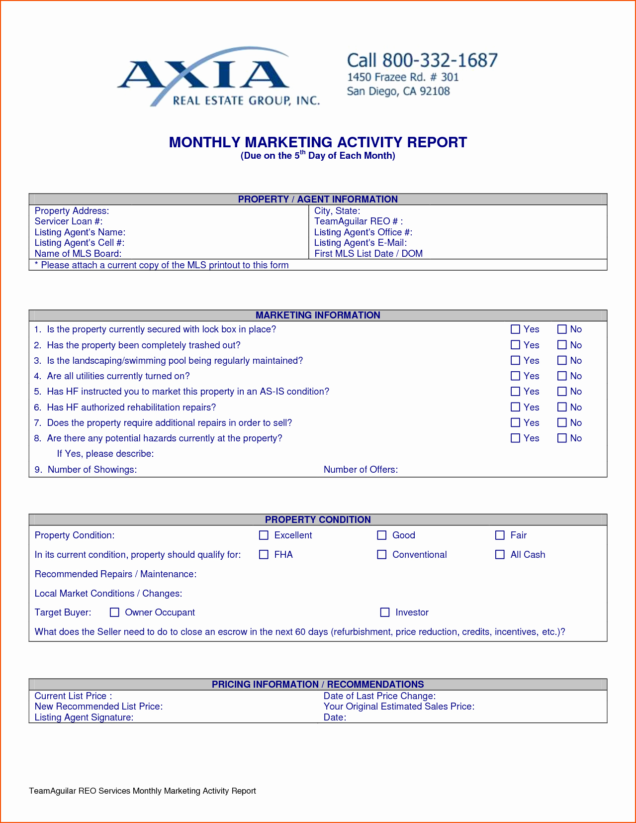 Weekly Activity Report Template Elegant 8 Weekly Activity Report Template Bookletemplate