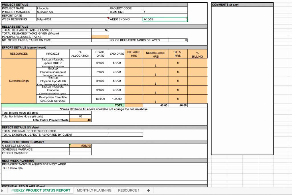 Weekly Activity Report Template Excel Elegant Weekly Project Status Report Template Excel