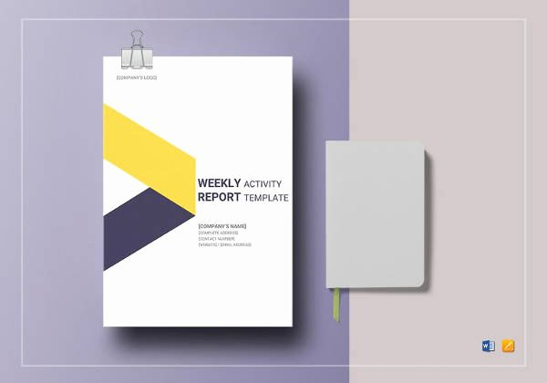 Weekly Activity Report Template Excel Fresh 33 Weekly Activity Report Templates Pdf Doc