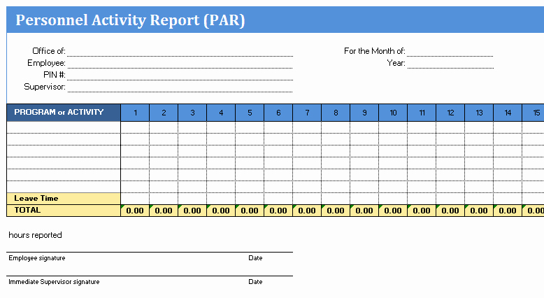 Weekly Activity Report Template Excel Fresh 5 Professional Report Templates