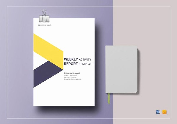 Weekly Activity Report Template Excel Inspirational 19 School Report Templates Pdf Word Pages