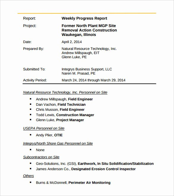 Weekly Activity Report Template Inspirational 36 Weekly Activity Report Templates Pdf Doc