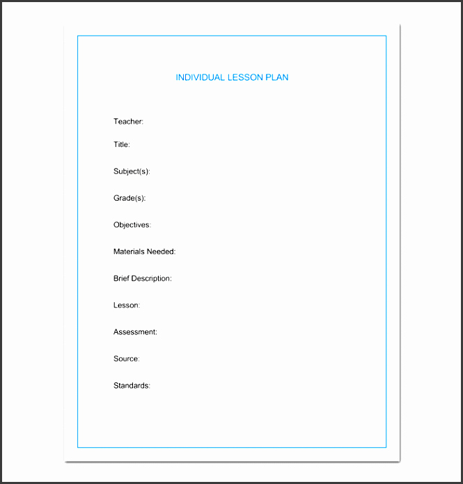 Weekly Lesson Plan Template Doc Awesome 7 Lesson Planner Template Sampletemplatess