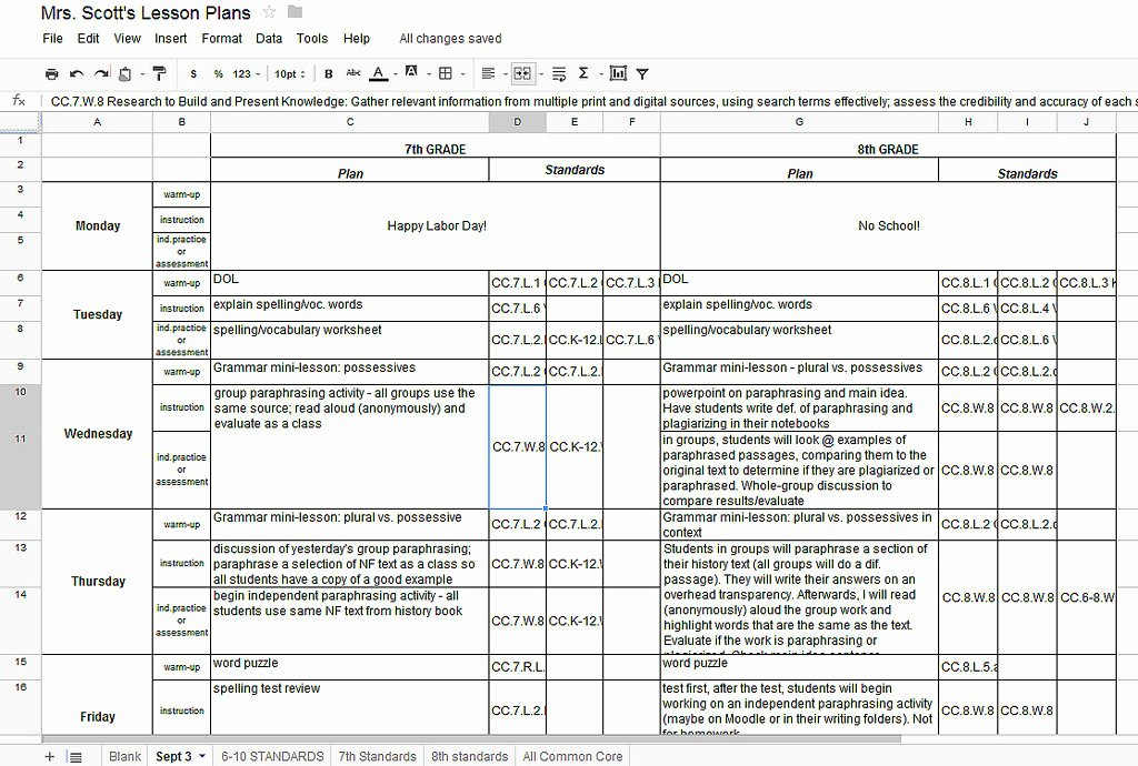 Weekly Lesson Plan Template Doc Elegant Lesson Plan Template Google Docs – Printable Schedule Template