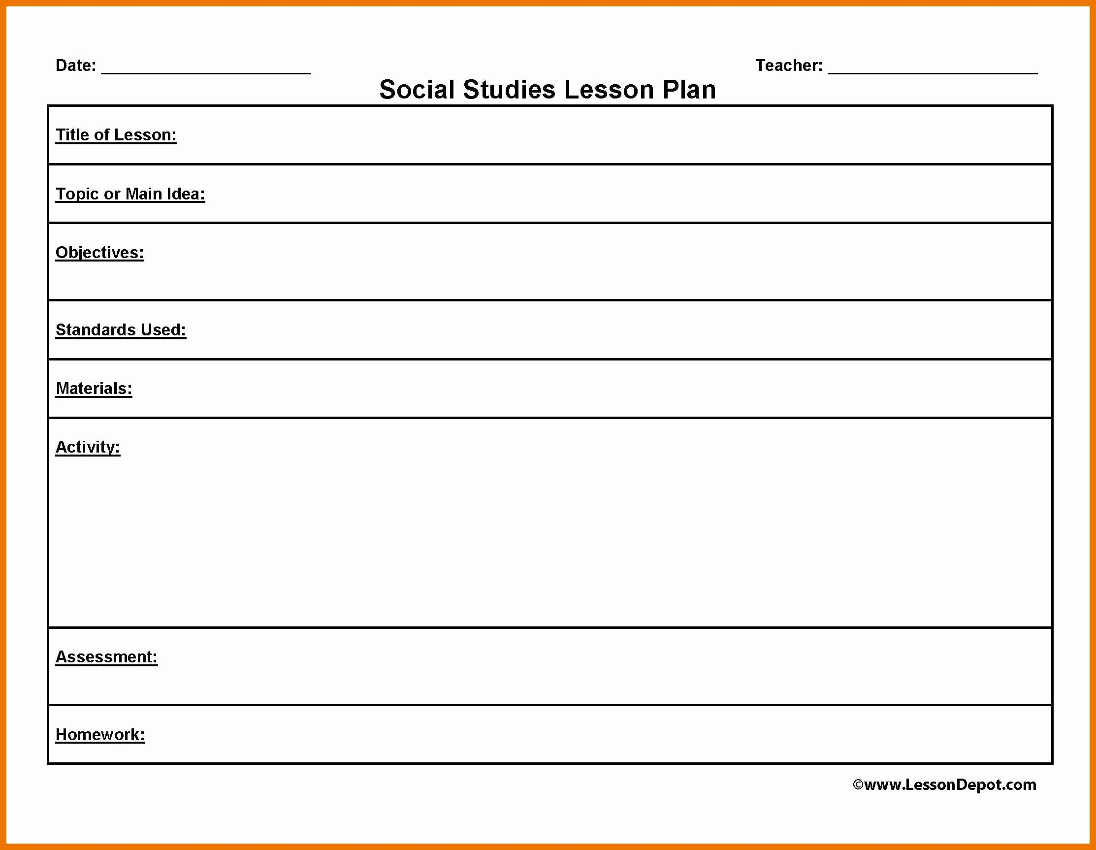 Weekly Lesson Plan Template Doc Inspirational Lesson Plan Template Word Doc Teacher Weekly Danielson