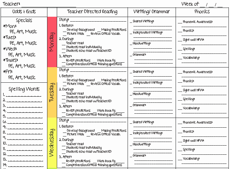 Weekly Lesson Plan Template Elegant Ms M S Blog 2 New Lesson Plan Templates
