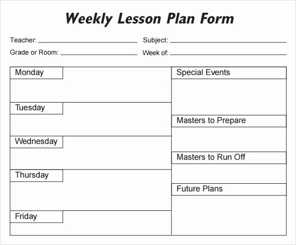 Weekly Lesson Plan Template Pdf Awesome Weekly Lesson Plan 8 Free Download for Word Excel Pdf