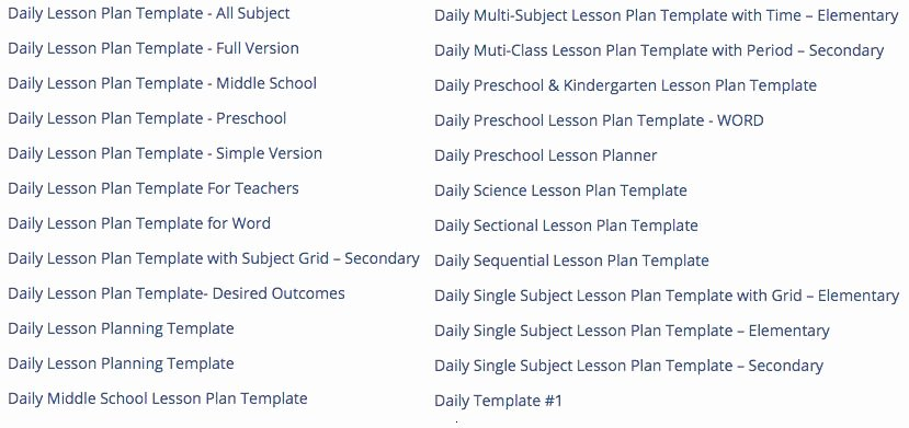 Weekly Lesson Plan Template Pdf Beautiful Best 4 Websites to Download Free Lesson Plan Template Pdf
