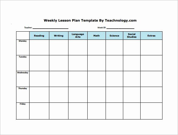Weekly Lesson Plan Template Pdf Lovely Free Lesson Plan Templates