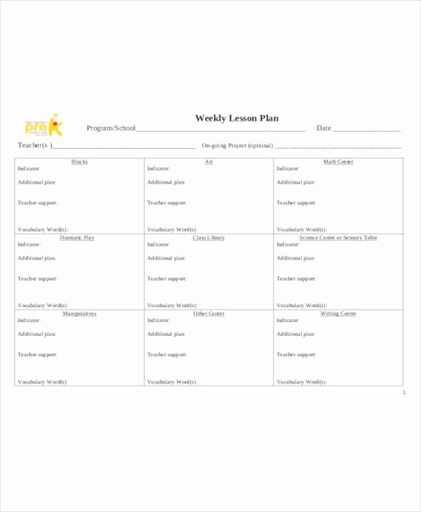 Weekly Lesson Plan Template Pdf New 59 Lesson Plan Templates Pdf Doc Excel