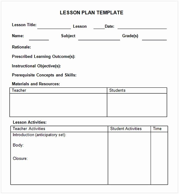 Weekly Lesson Plan Template Word Awesome Weekly Lesson Plan Template Word