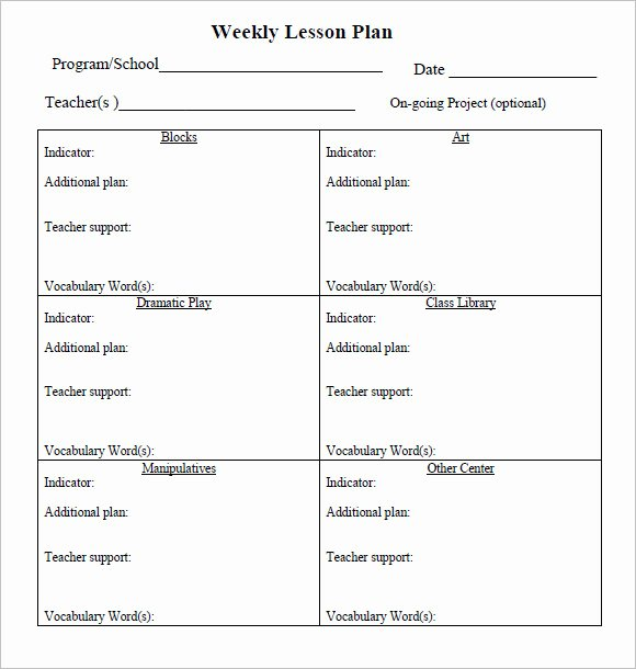 Weekly Lesson Plan Template Word Luxury Sample Weekly Lesson Plan 8 Documents In Pdf Word