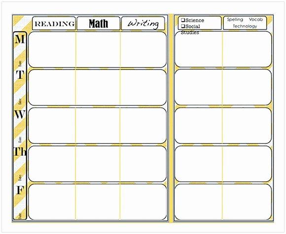 Weekly Lesson Plan Template Word Luxury Weekly Lesson Plan Template Word