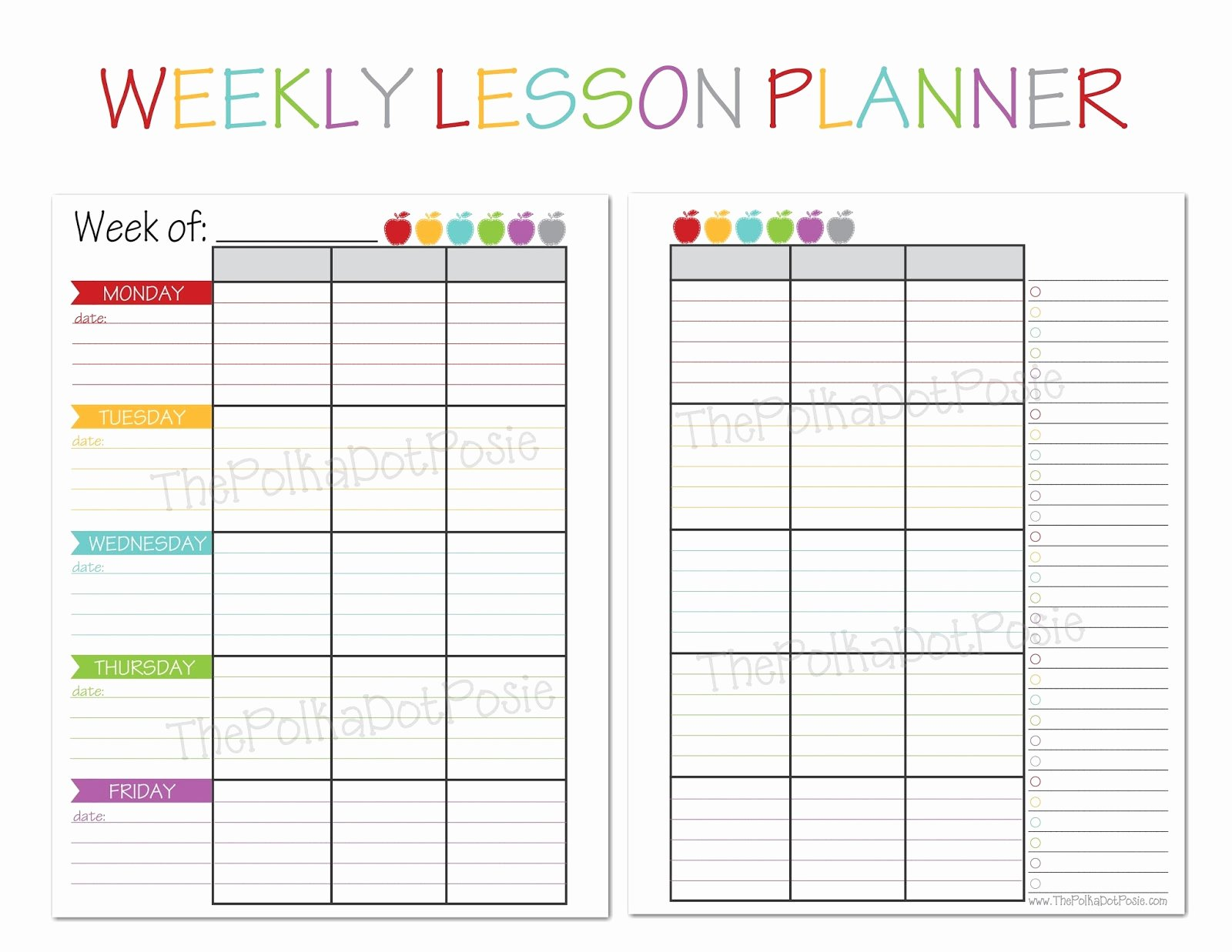 Weekly Lesson Plan Templates Elementary Inspirational Free Printable Templates for Teachers