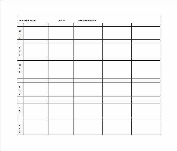 Weekly Lesson Plan Templates Elementary New Elementary Lesson Plan Template 11 Free Word Excel
