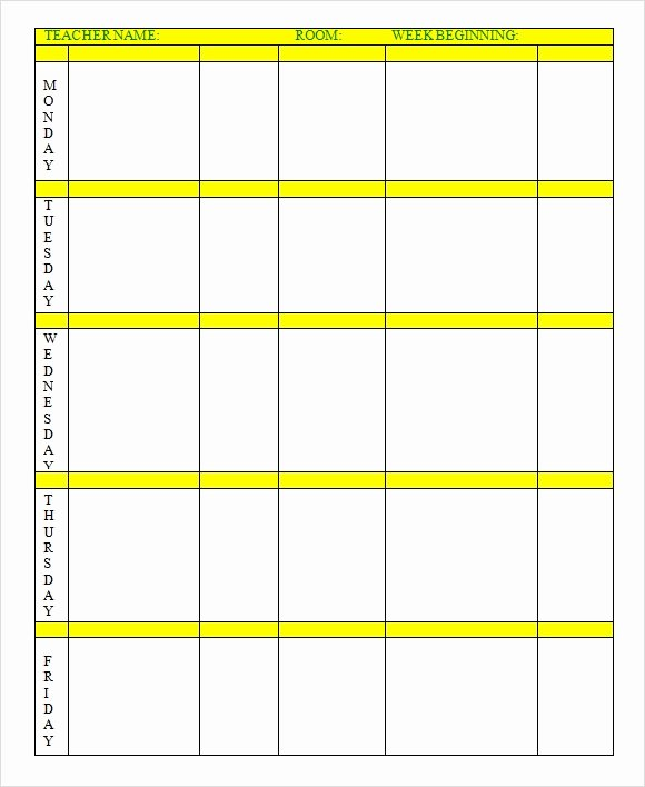 Weekly Lesson Plan Templates Elementary New Free 7 Sample Weekly Lesson Plans In Google Docs